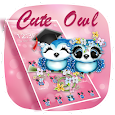 Pink Lovely Cute Owl Theme icon
