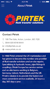 PIRTEK Application- screenshot thumbnail