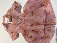 Roze kleedje organza