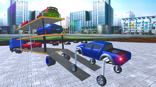 Elevated Car Transporter Game: Cargo truck Driver 1.0 screenshots 4