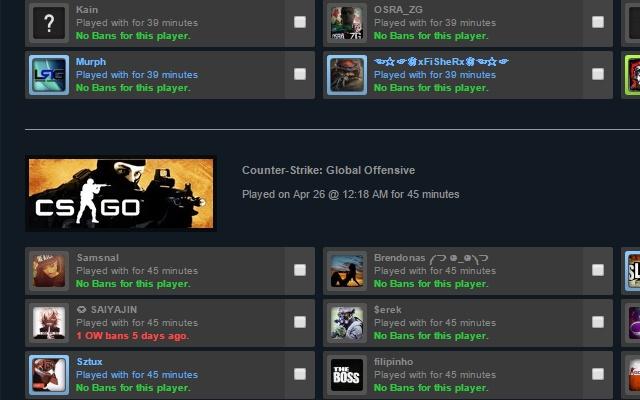 Ban Checker for Steam chrome extension