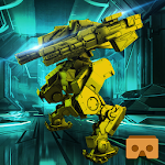 VR Steel Robot Lab Run – Futuristic Transformation Icon