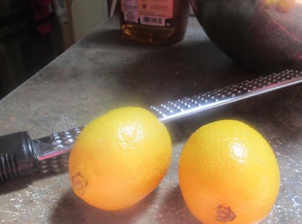 Zest lemons and squeeze out lemon juice