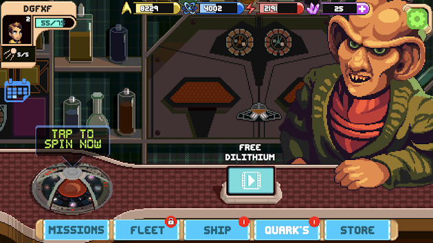 Kongregate's ad placement in Star Trek Trexels II