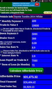 Auto Car Loan Payment Calculator Free Android Apps On Google Play