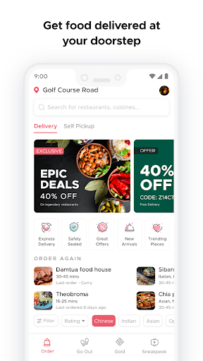 Zomato screenshot 1