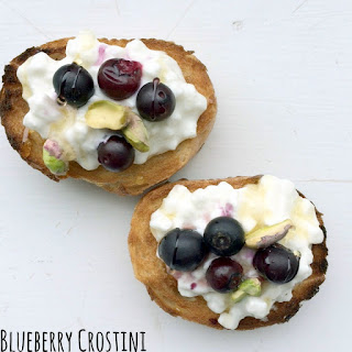 Roasted Blueberry Crostini