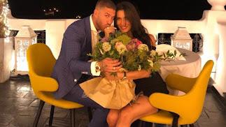 Sergio Ramos y Pilar Rubio tras la petición de matrimonio