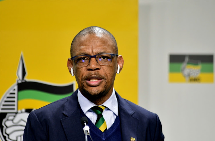 ANC spokesperson Pule Mabe during the ANC national executive committee media briefing on August 1 2018 in Johannesburg.