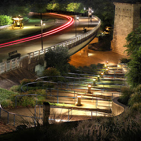 Hunter Museum Ramps by Gary Pope - Landscapes Travel ( chattanooga, hunter, night, ramp )