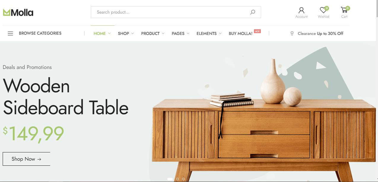 Molla -Woocommerce furniture themes