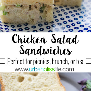 Classic Chicken Salad Sandwiches.