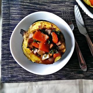 Ratatouille Stuffed Acorn Squash