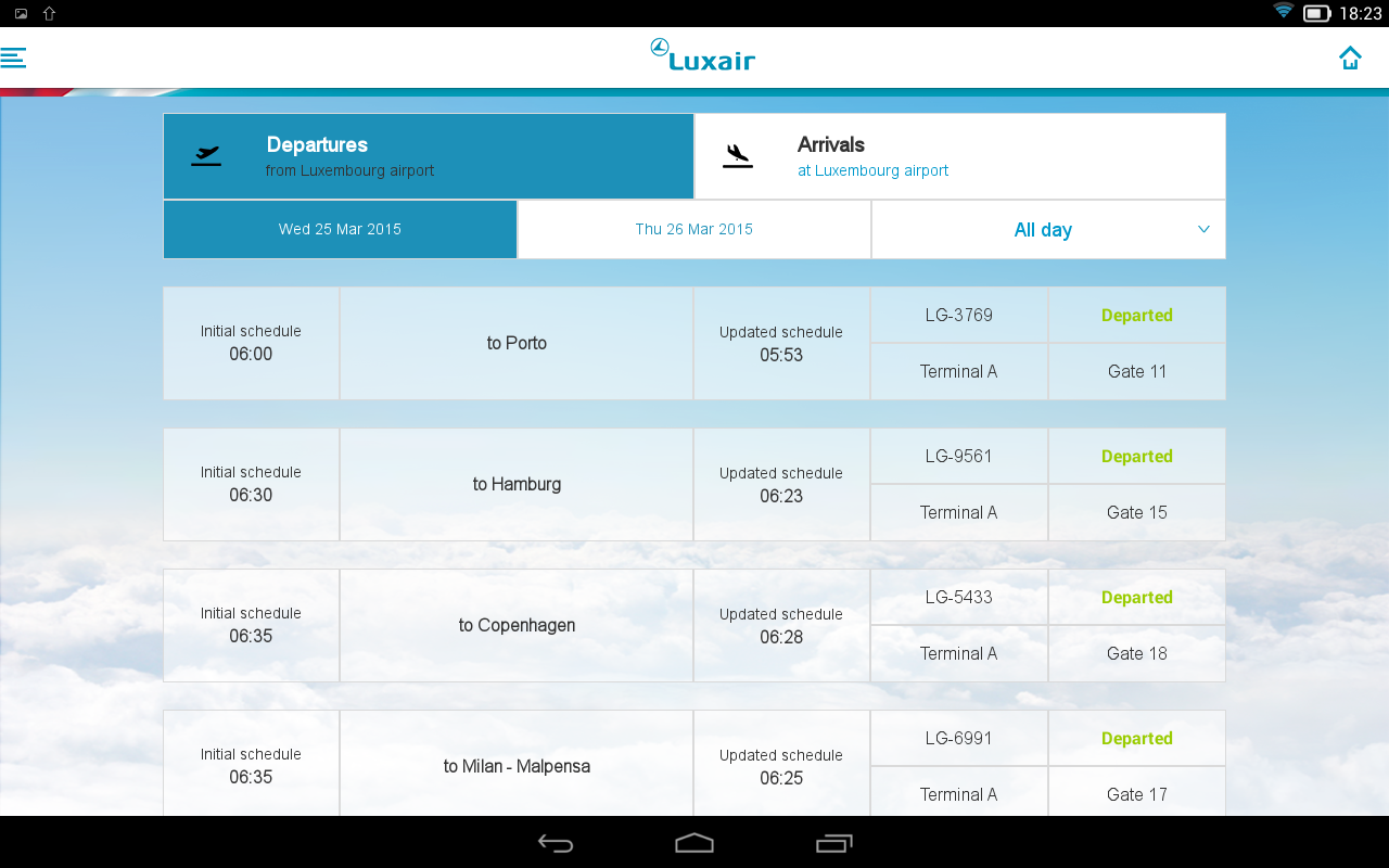 Luxair Luxembourg Airlines- screenshot
