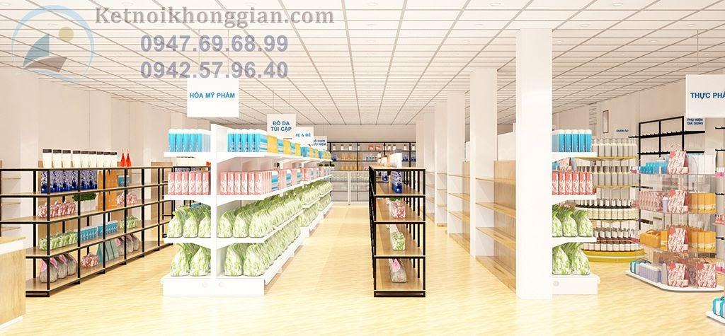 thiết kế siêu thị mini chất lương cao tại miền bắc