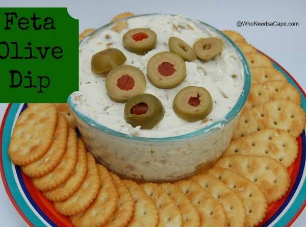 Feta Olive Dip #whoneedsacape #feta #dip #olives