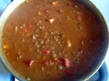 Creamy Spicy Lentil Soup Recipe