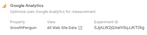 Connecting Google Analytics with Google Optimize