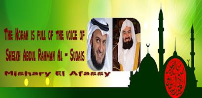Quran Mp3 - Al-Sudais & El Afassy - Android app on AppBrain