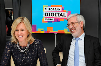 Photo: Ann Mettler, Executive Director of the Lisbon Council and European Digital Forum, and Member of World Economic Forum Global Agenda Council on Europe, and Mário Campolargo, Director for Net Futures, DG Communications Networks, Content and Technology, European Commission