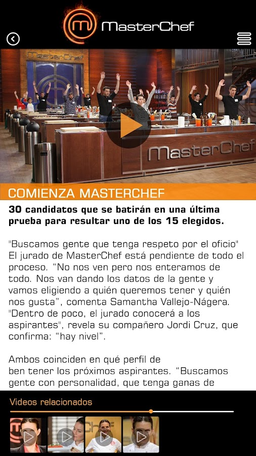 MasterChef- screenshot