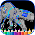 Angry Dinos Kid Coloring Pages icon