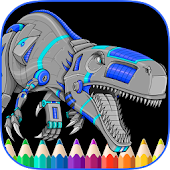 Free Angry Dinos Kid Coloring Pages APK for Windows 8