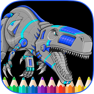 Angry Dinos Kid Coloring Pages for PC and MAC