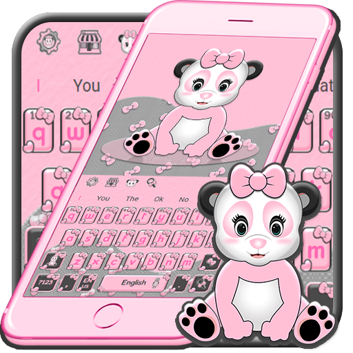 Cute Pink Panda Keyboard Theme Android APK Download Free By ZT.art