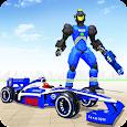 Police Chase Formula Car Transform Cop Robot Games