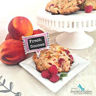 Raspberry Peach Scones {Gluten Free}.
