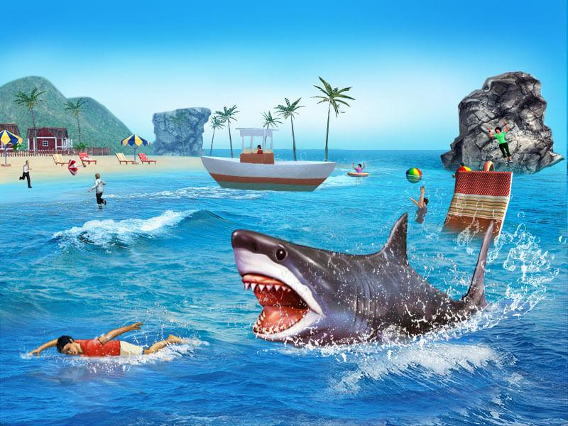 Shark Simulator 3d Game Screenshot