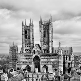 Lincoln cathedral  by Kellee Wright - Black & White Buildings & Architecture ( building, black and white, cathedral, architecture, historic,  )