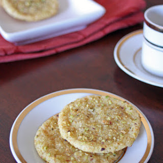 Vegan Rose Pistachio Cookies.
