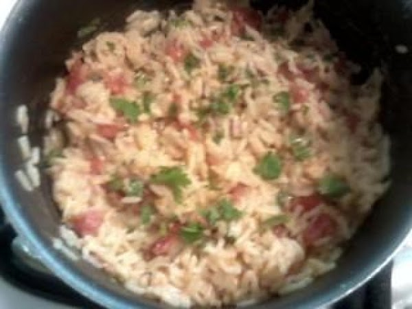 Cook rice according to directions.Five minutes before rice is to be done simmering, add...