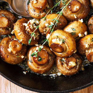 Roasted Mushrooms with Garlic Butter Sauce Recipe