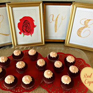 Red Velvet Mini Cupcakes with White Chocolate Cream Cheese Icing.