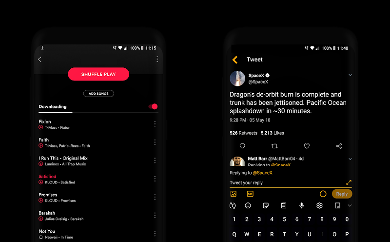 PitchBlack S╶ Samsung Substratum Theme Oreo/One Ui Screenshot 9
