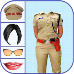 Woman Police Suit Photo Editor Icon