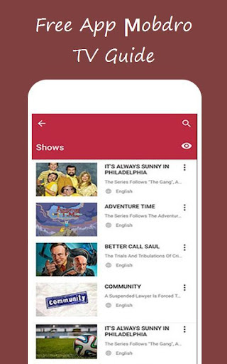 Free App мobdro TV Guide