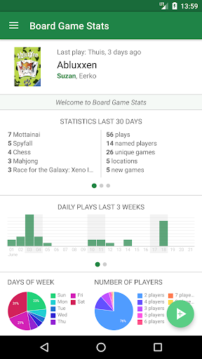 Screenshot for Board Game Stats: Play tracking for tabletop games in United States Play Store