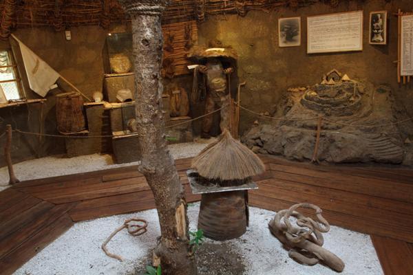 Pirámides de Cochasquí, complexo arqueológico. Museu de jogos nativos.