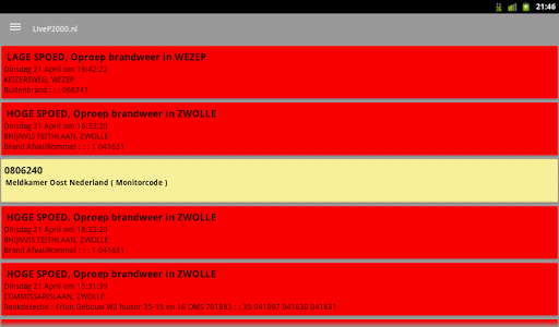 LiveP2000.nl - Free Meldingen v1.3.1c Screenshots 14