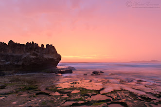 """Photo: """"Castle Rock Ablaze"""" Castle Rock Brenton-on-Sea, Western Cape, South Africa  I shared an intense sunset this past weekend with +Andrew Aveleyon the beach of Brenton-on-Sea. This is the infamous Castle Rock viewed in the amazing light we witnessed. I photographed this while my camera and I were incessantly pelted with rain and lightning was flashing overhead.  I did not shoot many epic landscape photos in 2012 so this one has to count as one of #mybest2012 (thanks for this theme +Barry Blanchard).  I hope you have a lovely restful week between Christmas and New Year.  Techs: Nikon D800 Nikkor 24-70mm f2.8 f16 