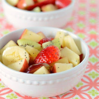 Fruit Salad with Honey Lime Dressing.
