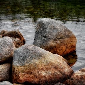 Diamonds  by Rita Uriel - Nature Up Close Rock & Stone ( water, nature, stone, lake, fishing, boulder, rocks, river,  )