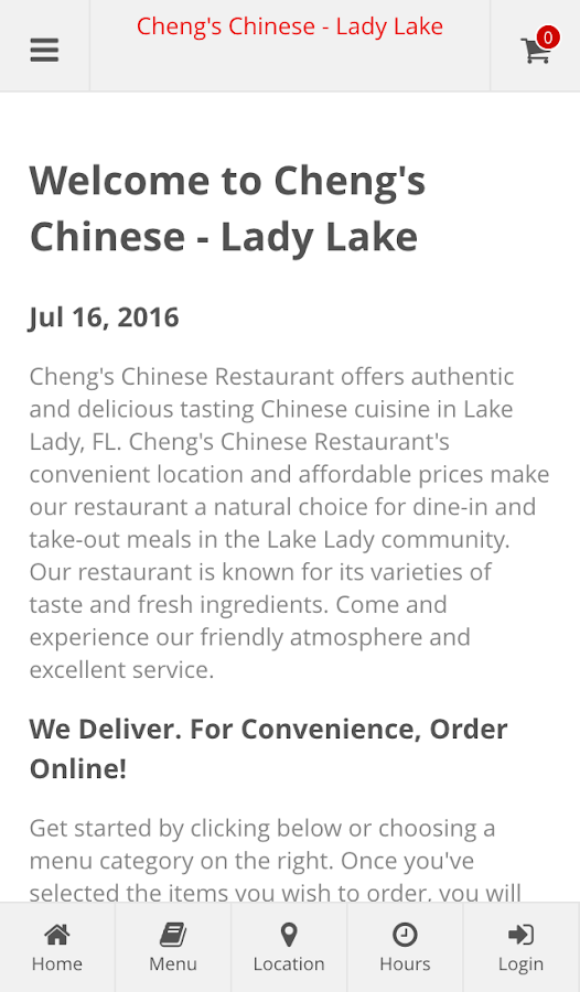 Cheng's Chinese - Lady Lake- screenshot