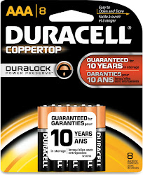 Duracell Coppertop Alkaline Batteries - AAA, 8 Count