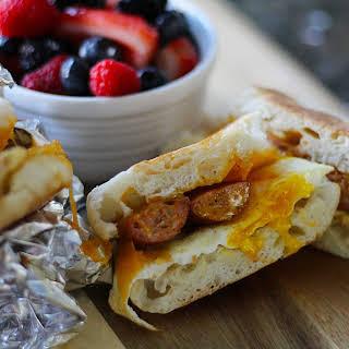 Gilbert's Craft Sausages Breakfast Sandwich.