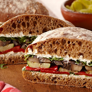 Italian Herb Grilled Vegetable Sandwich.